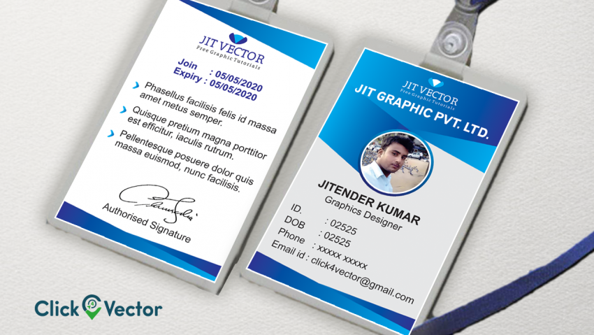 Employee Identification Card Template Free Download from www.click4vector.com